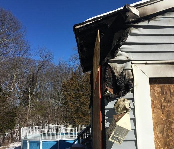 Electrical fire caused damage to this Providence home