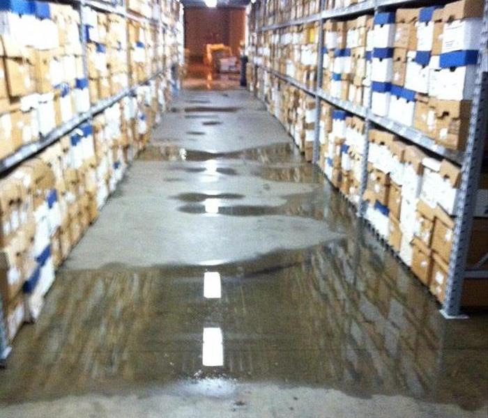 Warehouse cleanup after flooding